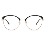20018 vintage metal oval optical frames