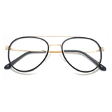 20014 vintage metal oval optical frames